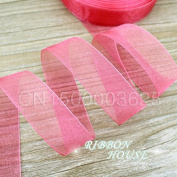 "FunnyPicker (50 Yards/Roll) 1""(25Mm) Watermelon Red Organza Ribbons Gift Wrapping Decoration Ribbons"