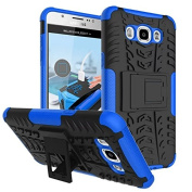 Galaxy J710 Case, Galaxy J7 2016 Case,ARSUE [Premium Rugged] Heavy Duty Armour [Shock Resistant] Dual Layer with Kickstand Case for Samsung Galaxy J7 2016/J710 - Blue