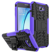 Galaxy On7 2016 Case,ARSUE [Premium Rugged] Heavy Duty Armour [Shock Resistant] Dual Layer with Kickstand Case for Samsung Galaxy On7 2016 / J7 Prime - Purple