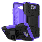 LG X Max Case,ARSUE [Premium Rugged] Heavy Duty Armour [Shock Resistant] Dual Layer with Kickstand Case for LG X Max - Purple