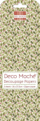 Small Holly Deco Mache x 3 Tissue Patch Paper Sheet First Edition Craft