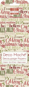 Xmas Words Deco Mache x 3 Tissue Patch Paper Sheet First Edition Craft