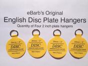 "eBarb's ""The Original"" English Plate Hanger Disc--a quantity of FOUR 3.2cm Hangers"