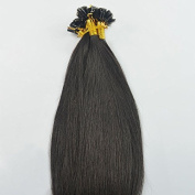 100 Strands Off Black Darkest Brown 50 Grammes USA Nail Shape U Tip Fusion Hair Extensions 38cm Long