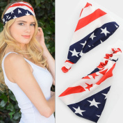 American Flag Headband, USA Headband, America Headband, USA Turban, American Flag Head Wrap, Us Headband, 4th of July, Usa World Cup