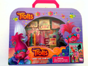 Dreamworks Trolls Carry Case Stamp Activity Set with Poppy Eraser