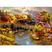 WinnerEco Beautiful Countryside 5D Diamond DIY Painting Craft Kit Home Decor