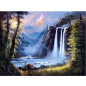 WinnerEco Full Drill Waterfall Scenery 5D Diamond DIY Painting Craft Home Decor