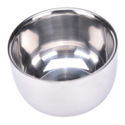 Durable Shave Soap Cup, Double Layer Stainless Steel Heat Insulation Smooth Shaving Mug Bowl