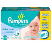 Pampers, Baby Fresh Baby Wipes, 864 Count Clean gently - New!!!