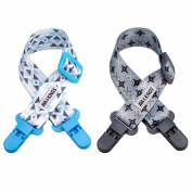 Ava & Kings 2pc Multi-Purpose Baby Nursing Stroller Shade Bib Cover Clip Set