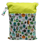 Jili Online Waterproof Zip Baby Infant Cloth Nappy Nappy Bag Pouch Organiser Cartoon - Green