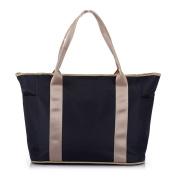 Nappy Bag Multifunctional Large space Mummy Handbag Shoulder Bag - Dark Blue