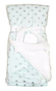 Sam Salem & Sons Soft Plush Baby Blanket Embossed Fleece Reverse Warm Sherpa Throw Bed Pink Blue 80cm x 100cm Textured