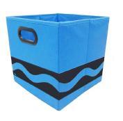 Modern Littles Crayola Black Serpentine Storage Bin, Blue