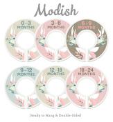 Modish Labels Baby Nursery Closet Dividers, Closet Organisers, Nursery Decor, Baby Girl, Deer, Floral Antlers, Flowers, Woodland