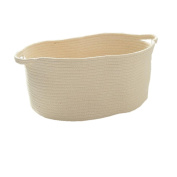 50cm x 35cm x 8.170cm Cotton Rope Woven Storage Baskets Bins with Handles for Clothes Hamper Toys Nursery Kid's Room Storage
