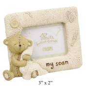 Oaktree Gifts My Scan Button Corner Resin Photo Frame 3 x 2