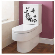 Toilet sticker, Kemilove Toilet Grand Removable Mural Decal Art - Flowers And Vine