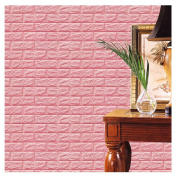 Kemilove PE Foam 3D Wallpaper DIY Wall Stickers Wall Decor Embossed Brick Stone