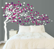 1.8m Tree Decal - Wind Blowing 1.8m Tree Wall Decal Art Sticker Mural