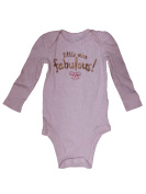 Jumping Beans Infant Girls Gold Little Miss Fabulous Long Sleeve Bodysuit