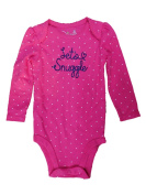 Jumping Beans Infant Girls Pink Polka Dot Lets Snuggle Long Sleeve Bodysuit