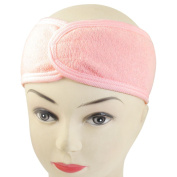 Spa Bath Shower Make Up Wash Face Cosmetic Headband Hair Band Pink by TOOGOO