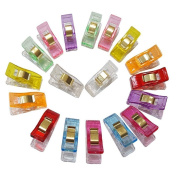 CH 50pcs Colours Plastic Wonder Clips Sewing Quilting Crafting Clover Clips