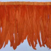 Sowder Rooster Feather Fringe Trim 30cm - 36cm in Width Pack of 1 yard