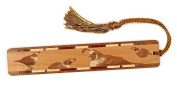 Quail - Birds - Engraved Wooden Bookmark with Tassel