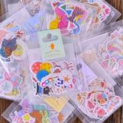 HEMALL 136pcs Cute Cartoon Animals Paper Sticker Child Birthday Party DIY Decoration Sticky Album diary Scrapbooking Toys For Kids Q410