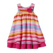 Blueberi Boulevard Baby Girls' Striped Chiffon Sundress, Multi