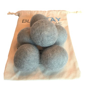 Organic Wool Dryer Balls - 100% Pure New Zealand Wool - Handmade Felted - Natural Fabric Softener - Best Eco-friendly Reusable Alternative To Dryer Sheets - Great For Cloth Nappies - 6 Pack XL