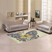 JC-Dress Area Rug Butterfly Modern Carpet 1.5mx0.9m