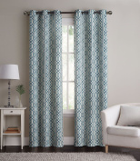 2 Blue Alexander Thermal Insulated Woven Blackout Window Curtain Grommet Panels - Pair -190cm W x 210cm L inch Long