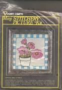 Vintage 1976 Vogart Crafts Cheques and Flower Mini Stitchery Picture Kit