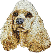 American Cocker Spaniel, Embroidery, patch with the image of a dog