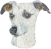 Whippet, Embroidery, patch with the image of a dog
