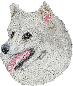 Japanese Spitz, Embroidery, patch with the image of a dog