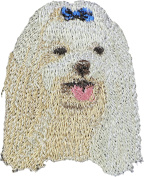 Maltese, Embroidery, patch with the image of a dog