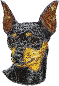 Miniature Pinscher, Embroidery, patch with the image of a dog