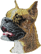 Boxer, Embroidery, patch with the image of a dog