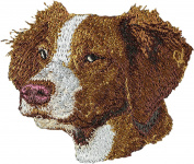 Brittany, Embroidery, patch with the image of a dog