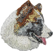 Icelandic Sheepdog, Embroidery, patch with the image of a dog