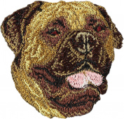 Bullmastiff, Embroidery, patch with the image of a dog