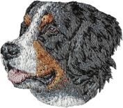 Bernese Mountain Dog, Embroidery, patch with the image of a dog