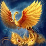 Fipart DIY diamond painting cross stitch craft kit. Wall stickers for living room decoration.Phoenix
