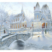 Fipart DIY diamond painting cross stitch craft kit. Wall stickers for living room decoration.Snow