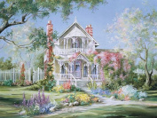Fipart DIY diamond painting cross stitch craft kit. Wall stickers for living room decoration.castle